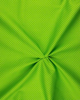 Cotton Popelin White Dot on a background Spring Green - Tissushop