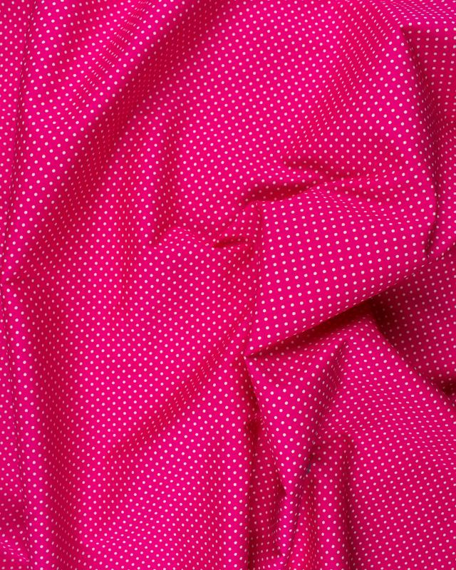 Cotton Popelin White Dot on a background Pink - Tissushop