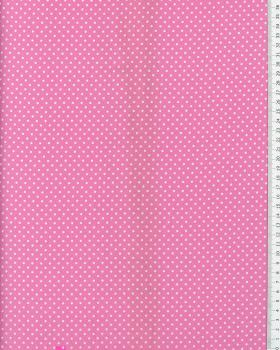Cotton Popelin White Dot on a background Light Pink - Tissushop