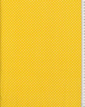 Cotton Popelin White Dot on a background Yellow - Tissushop