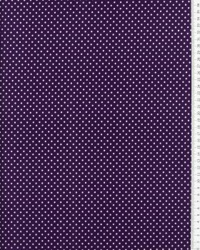 Cotton Popelin White Dot on a background Purple - Tissushop
