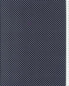 Cotton Popelin White Dot on a background Dark Grey - Tissushop