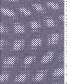 Cotton Popelin White Dot on a background Light Grey - Tissushop