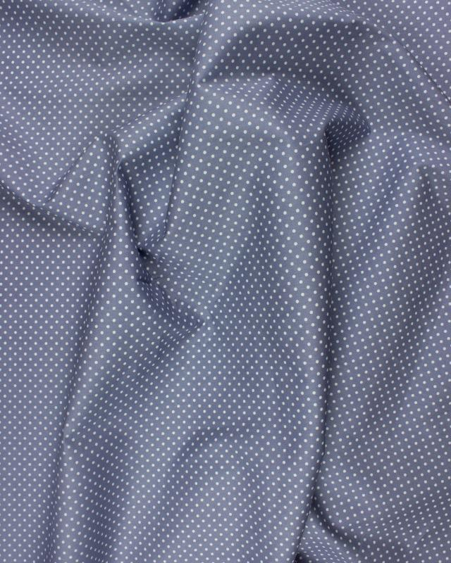 Cotton Popelin White Dot on a background Light Grey - Tissushop