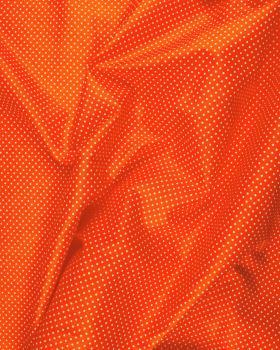 Cotton Popelin White Dot on a background Orange - Tissushop