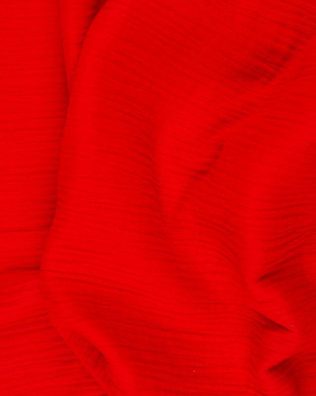 Double Gaze Unie Rouge - Tissushop