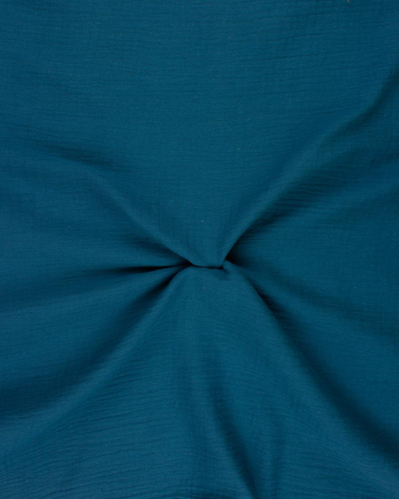 Double Gaze Unie Bleu Canard - Tissushop