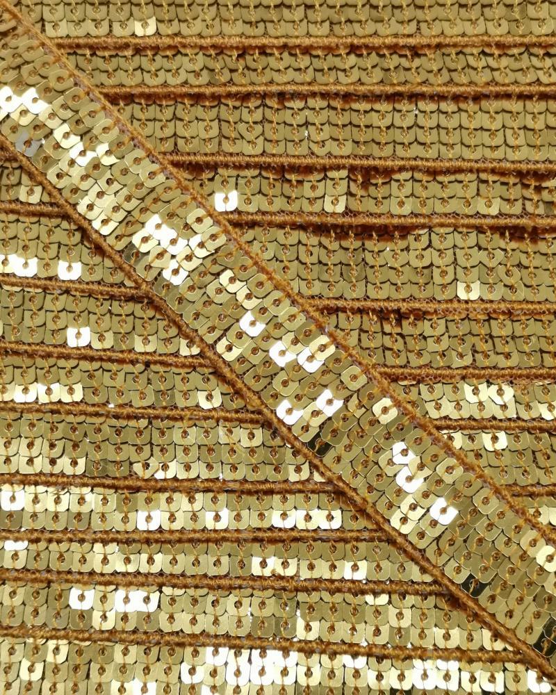SQUARE GLITTER BRAID Gold - Tissushop