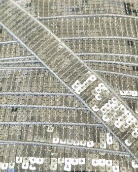 Galon à paillettes carrées Argent - Tissushop