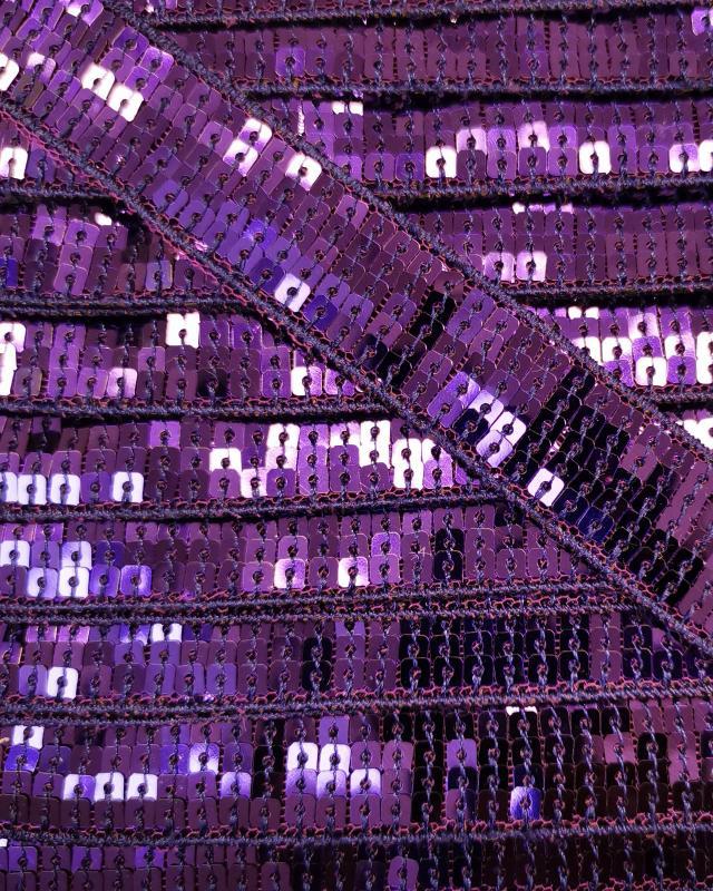 SQUARE GLITTER BRAID Purple - Tissushop