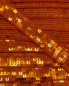SQUARE GLITTER BRAID Orange - Tissushop