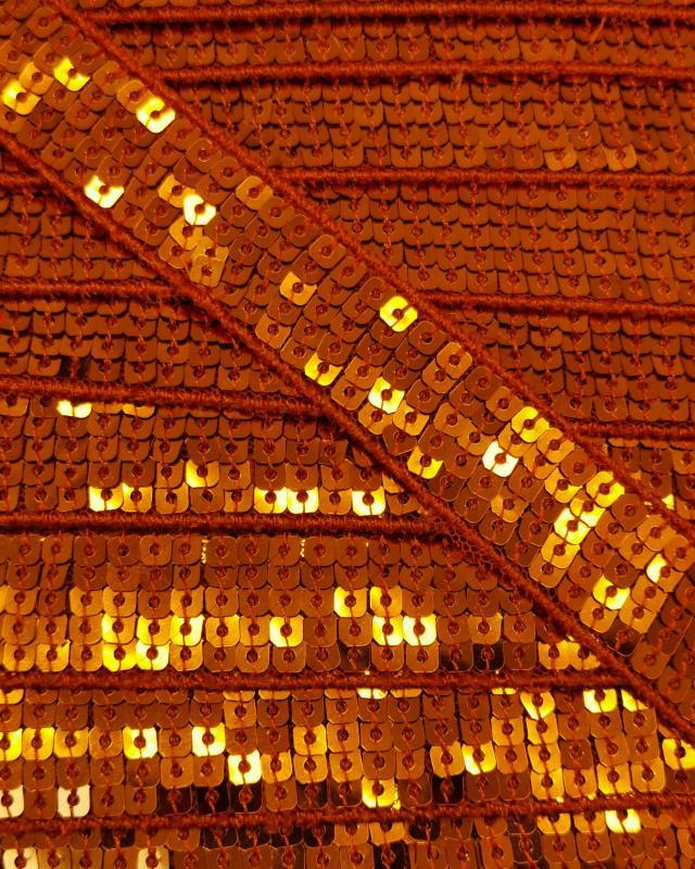 Galon à paillettes carrées Orange - Tissushop