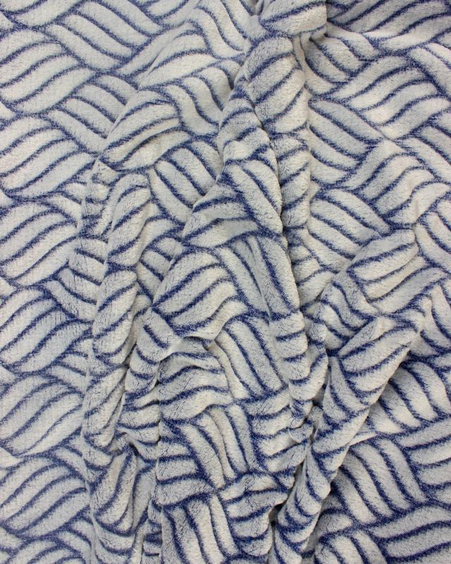 Fleece mesh Blue - Tissushop