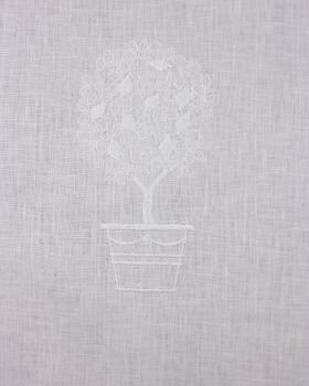 White Linen Curtain Three Pattern - Tissushop