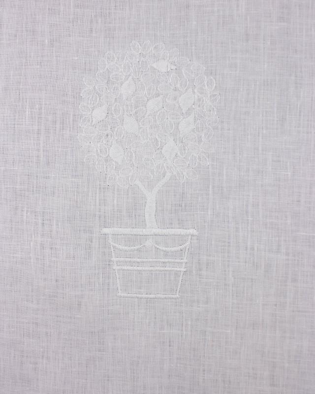 White Linen Curtain Three Pattern - Tissushop