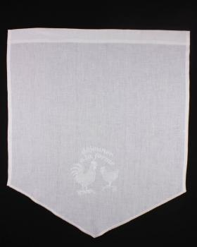 White Linen Curtain Farm Pattern - Tissushop