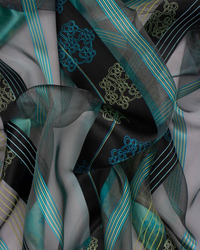 Aqua graphic gauze Light Blue - Tissushop