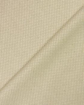 Damier coton / lin en 280 cm Naturel - Tissushop