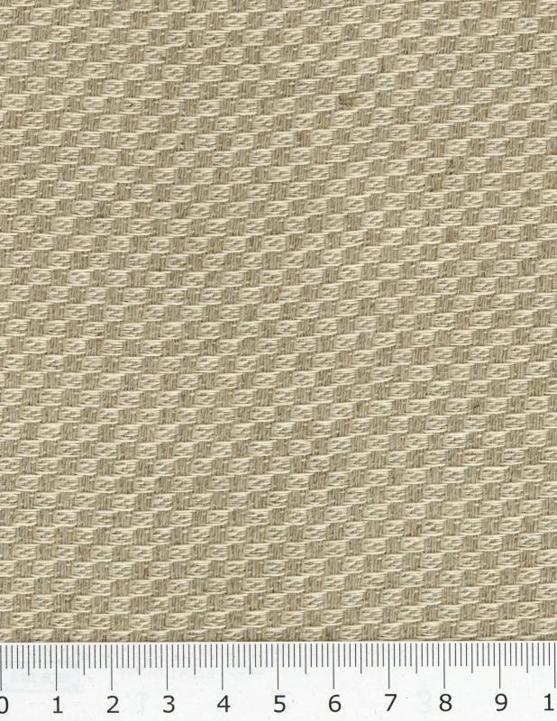 Cotton / Linen checkerboard in 280 cm Natural - Tissushop