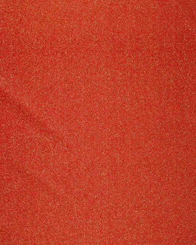 Round Glitter Light Jersey Fabric / Red - Tissushop