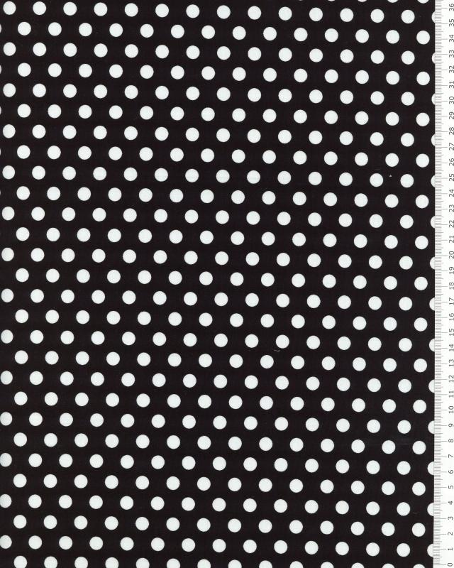Cotton Popelin White Medium Dot / Black - Tissushop