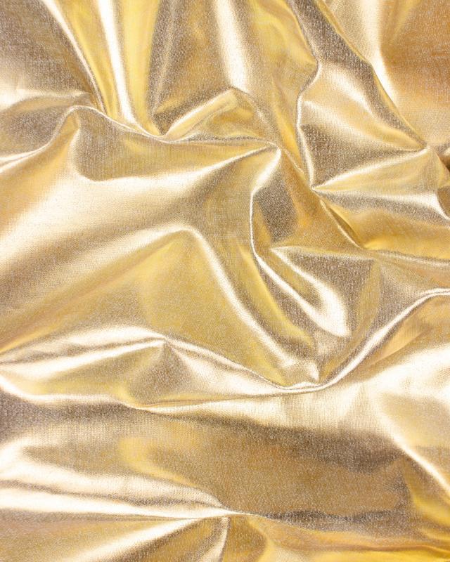 Toile de lin blanc métallisé Or - Tissushop