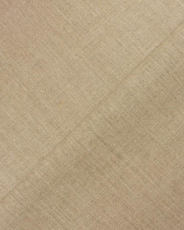 Linen grey fabric - Calandered - 160 cm - Natural - Tissushop