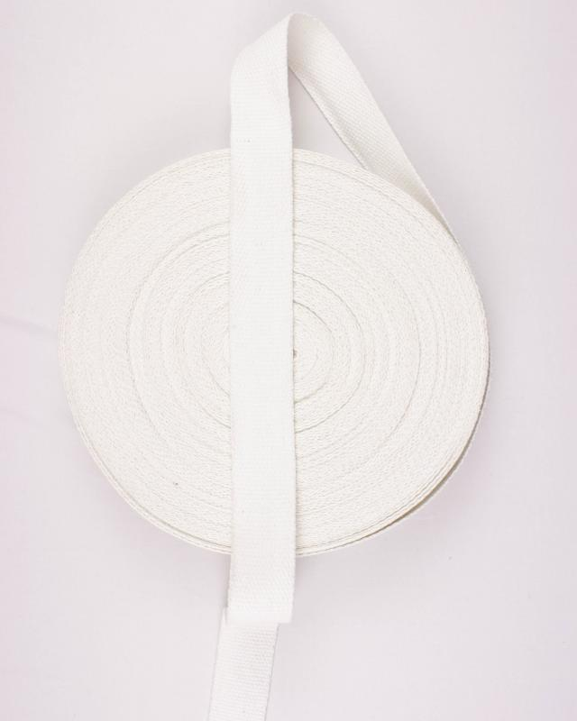 Cotton Webbing 38 mm White - Tissushop