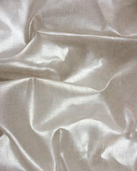 Natural Linen fabric soft metalic Silvery - Tissushop