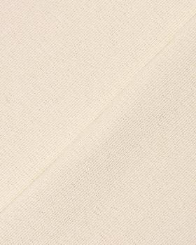 Coton fabric grain riz large wide Off White - Tissushop