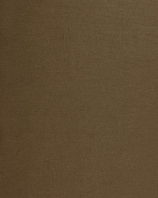 Dyed polycotton Popelin Walnut - Tissushop