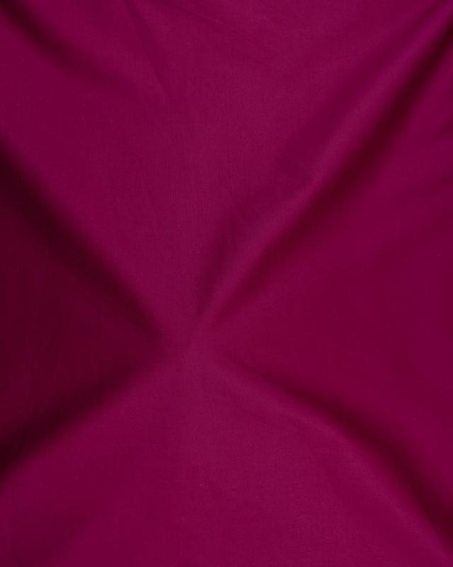 Dyed polycotton Popelin Burgundy - Tissushop