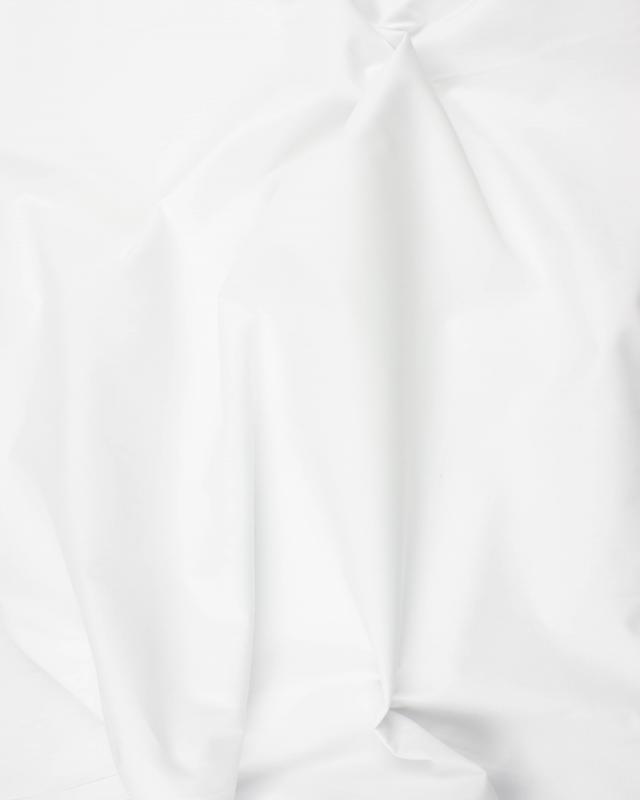 Popeline polycoton Uni Blanc - Tissushop
