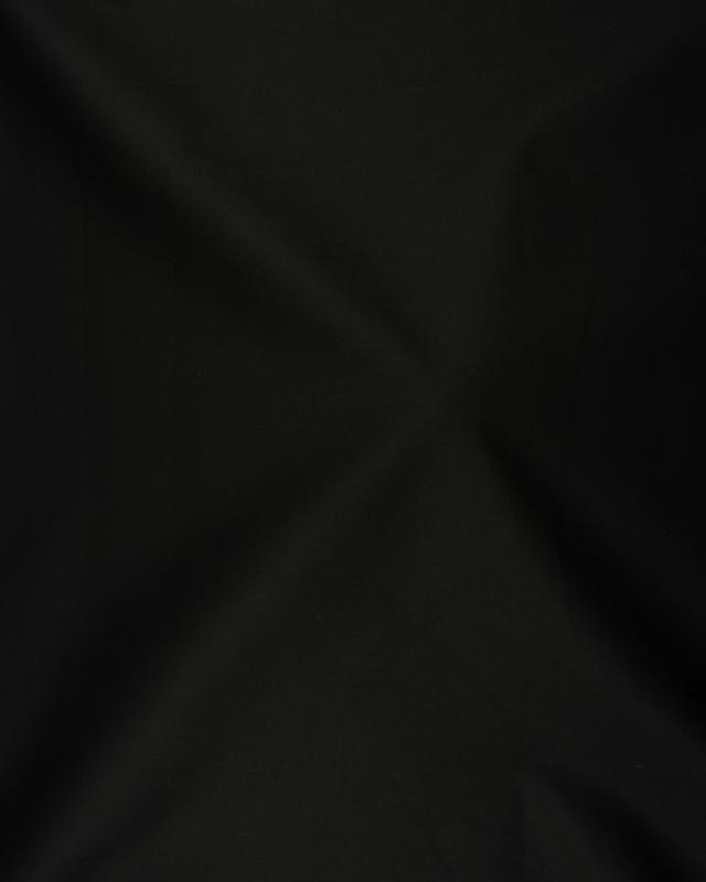 Dyed polycotton Popelin Black - Tissushop