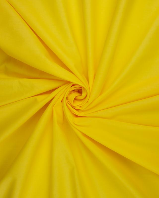 Dyed polycotton Popelin Yellow - Tissushop