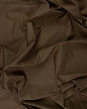 Popeline polycoton Uni Chocolat - Tissushop