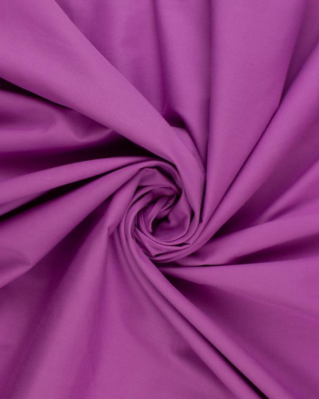 Dyed polycotton Popelin Plum - Tissushop