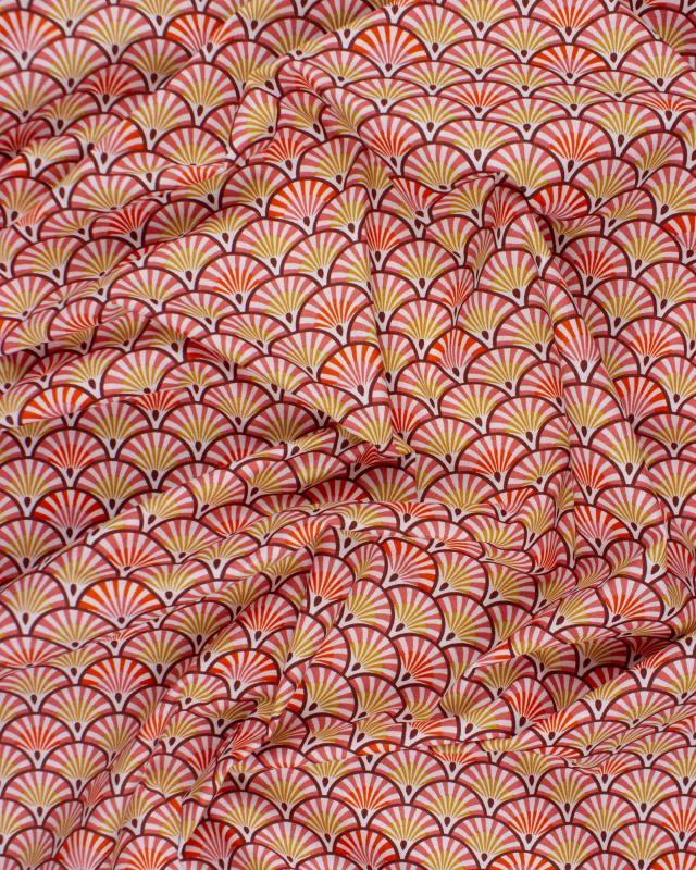 Coton enduit YONA Piment - Tissushop