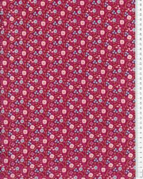 Cotton Popeline - Lily Bordeaux - Tissushop