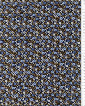 Popeline de Coton - Lily Bleu Nuit - Tissushop