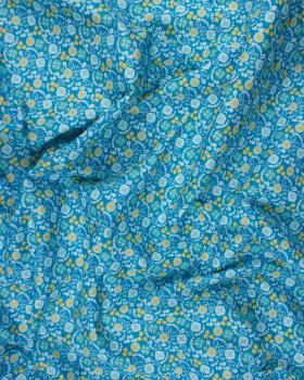 Cotton Popeline - Lily Turquoise Blue - Tissushop