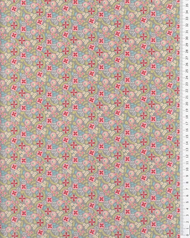 Popeline de Coton - Lily Gris - Tissushop