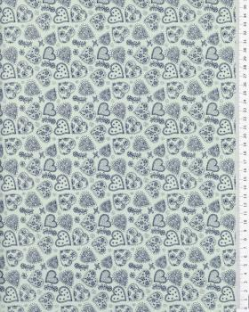 Cotton Popeline - Sofia Blue - Tissushop