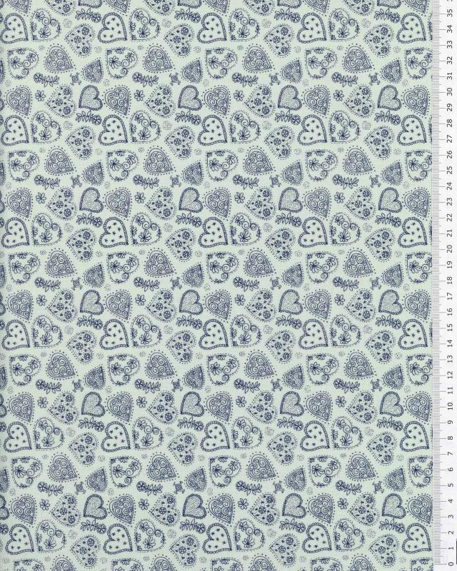 Cotton Popeline - Sofia Blue - Tissushop