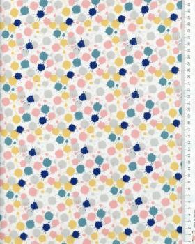 Cotton Popelin - Sam Grey / Blue - Tissushop