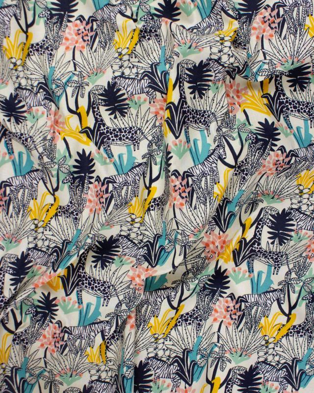 Cotton Popelin - Africa Navy Blue - Tissushop