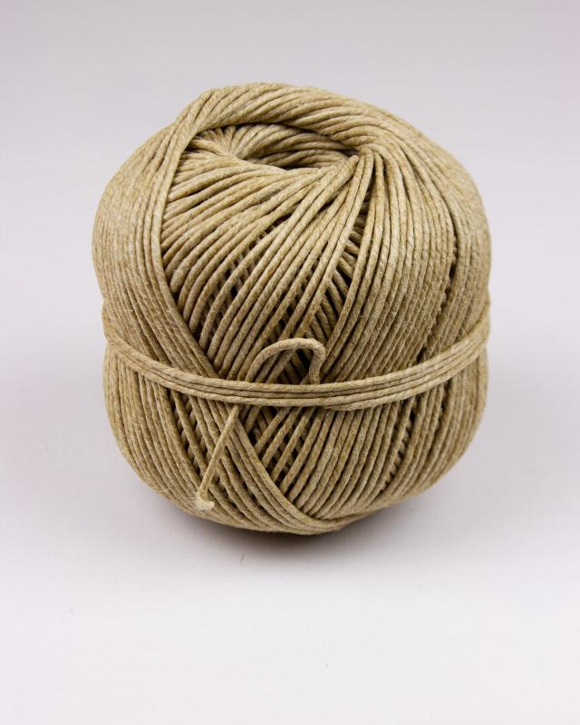Stinging twine 10/3 polished linen - diam 2,3 mm - 100 meter ball Natural - Tissushop