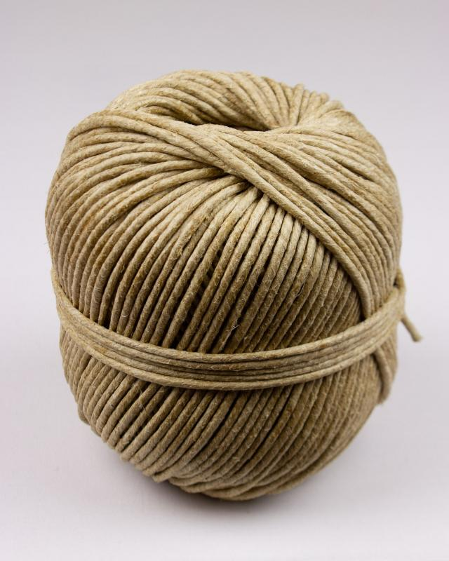 6/3 seat flax rope - 3,3 mm diam - ball of 500 gr - Natural - Tissushop