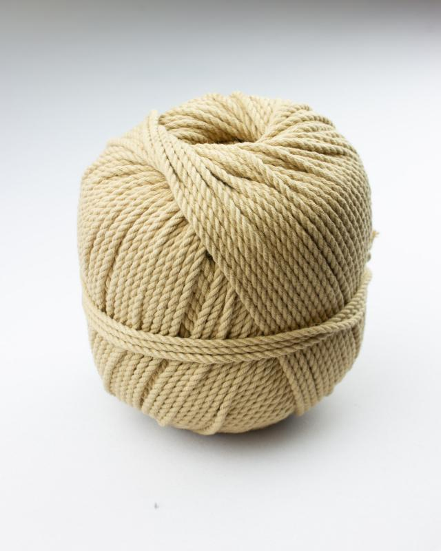 Cordeau de coton macramé Beige - Tissushop
