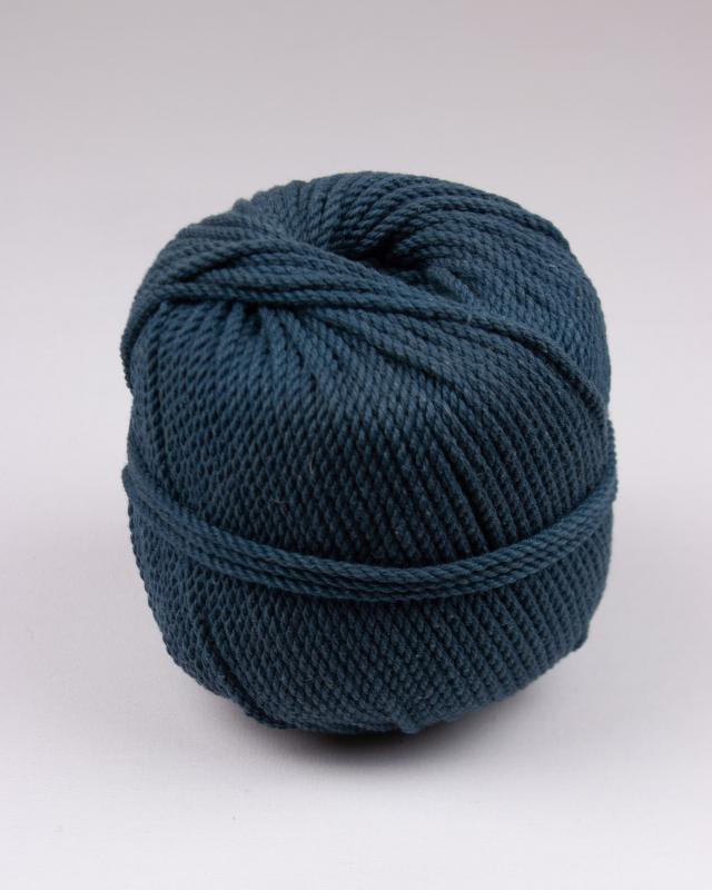 Cordeau de coton macramé Bleu Canard - Tissushop